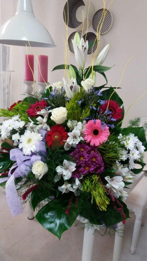 Centro de flores coloridas y alegres zaragoza
