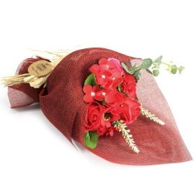 bouquet rojo flor de jabon