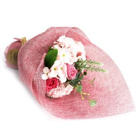bouquet rosa modelo flor de jabon