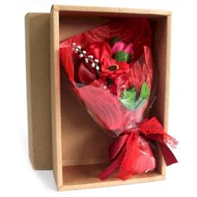 flor de jabon rojo bouquet