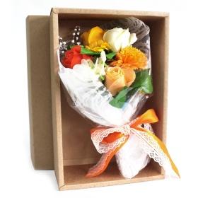 flores de jabon bouquet naranja