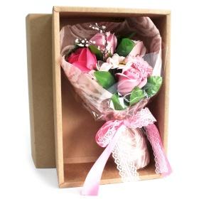 flores de jabon bouquet rosa
