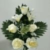ramo artificial en tonos blancos