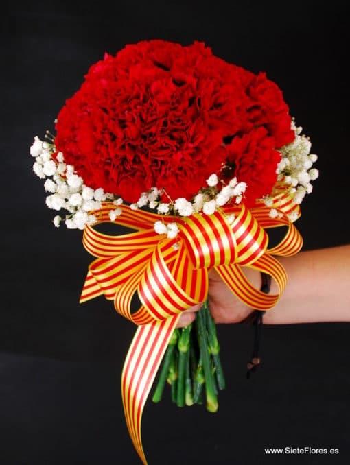 ramo claveles rojos pilares flores a domicilio